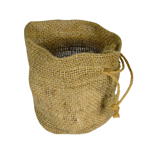 "Round Bottom Jute Tote Bag - 11"" x 9"" x 6"""