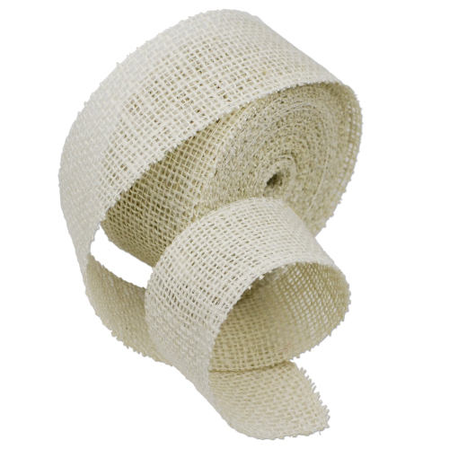 "White Burlap Ribbon - 2"" x 10 Yards (Serged Edges)"