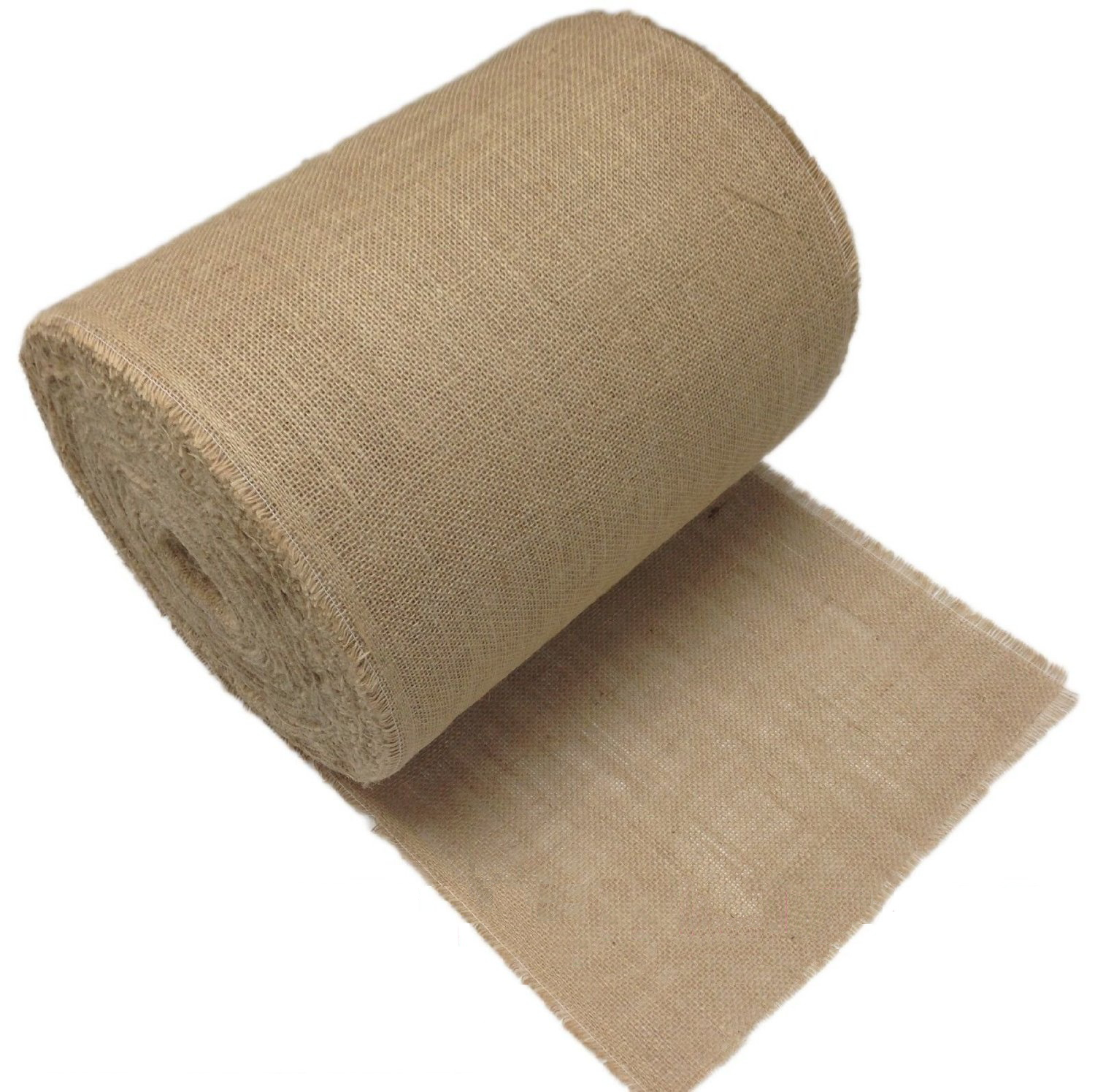 "14"" Premium Burlap Roll - 100 Yards (Frayed Edges)"