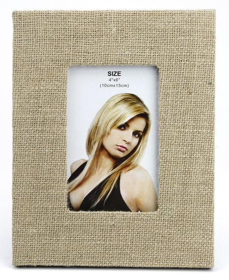 "JUTE THEMED PICTURE FRAME 7.5"" X 9.5"""