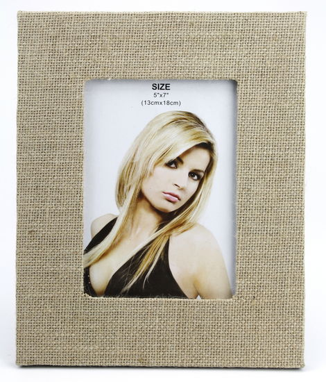 "JUTE THEMED PICTURE FRAME 8.5"" X 10.5"""