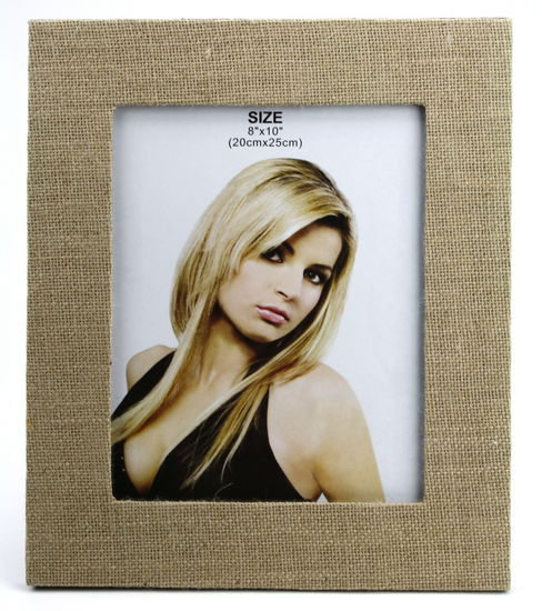 "JUTE THEMED PICTURE FRAME 11.25"" X 13.25"""