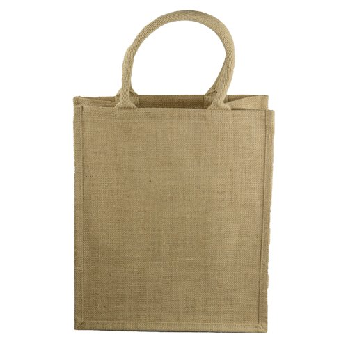 "Natural Jute Wine Bag with Dividers - 12"" x 8"" x 14"""