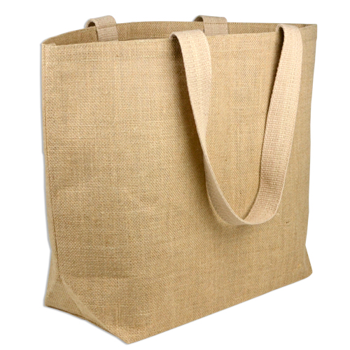 "Natural Jute Tote Bag - 20"" x 14"" x 6"""