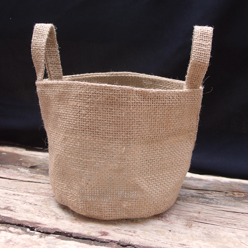 "Natural Jute Pot Cover - 4.5"" x 4"""
