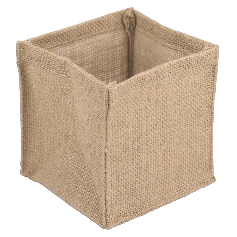 "Burlap Vase Holder - 5"" x 5"" x 5"" (Sold by the Dozen)"