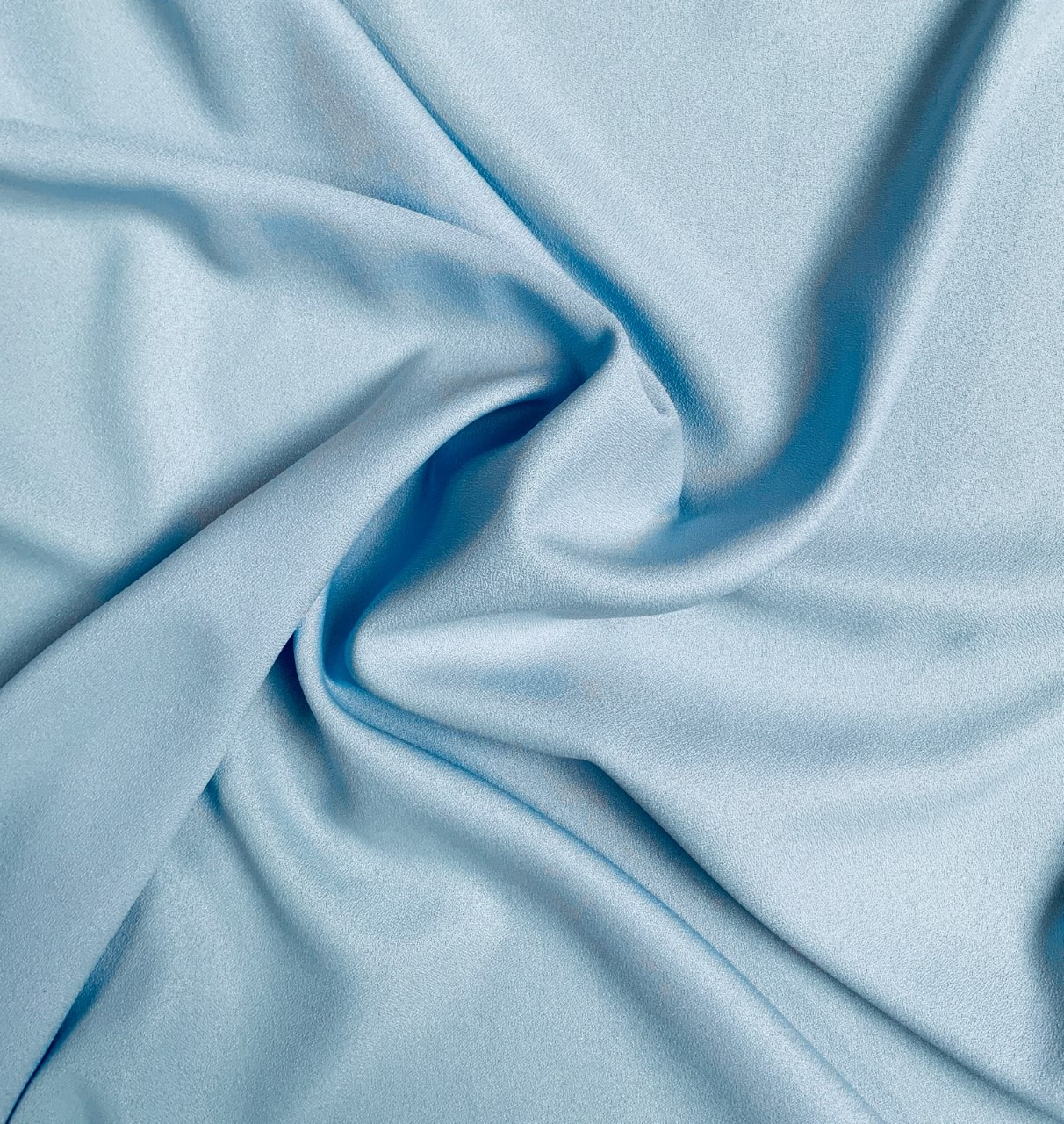 "60"" Wide Blue Crepe- By The Yard (100% Polyester)"