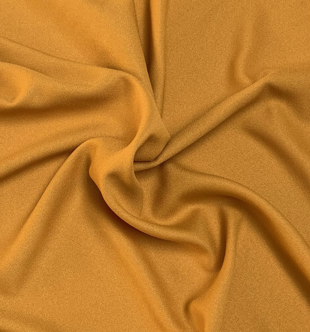 "60"" Wide Mustard Crepe-By the yard (100% Polyester)"