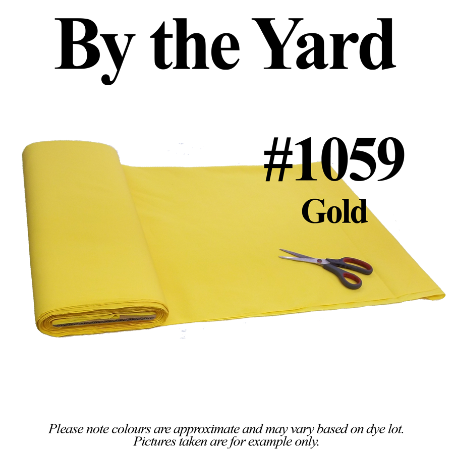 "45"" Gold Broadcloth - By the Yard - Click Image to Close"