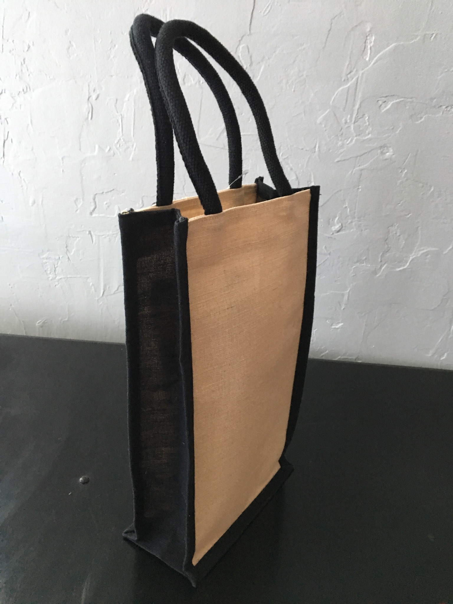 "Juco Wine Bag W/ Dividers - 4"" X 8"" X 14"" (Available in Black)"