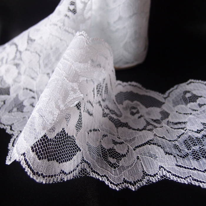 "White Lace Ribbon - 4"" x 10 Yards - Click Image to Close"