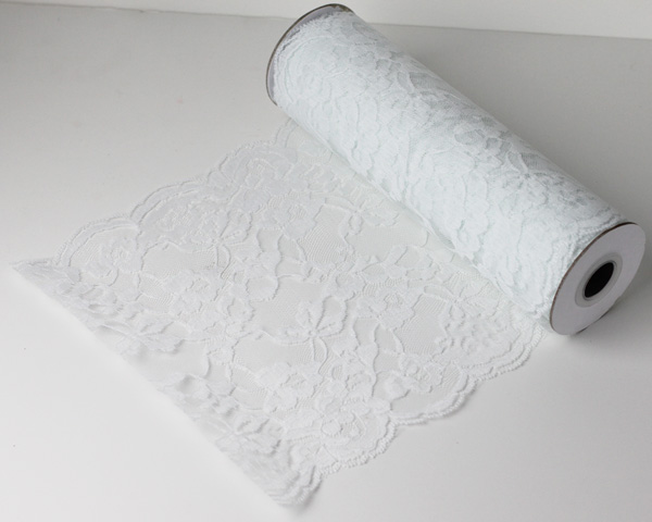 "White Lace Ribbon - 9"" x 10 Yards"