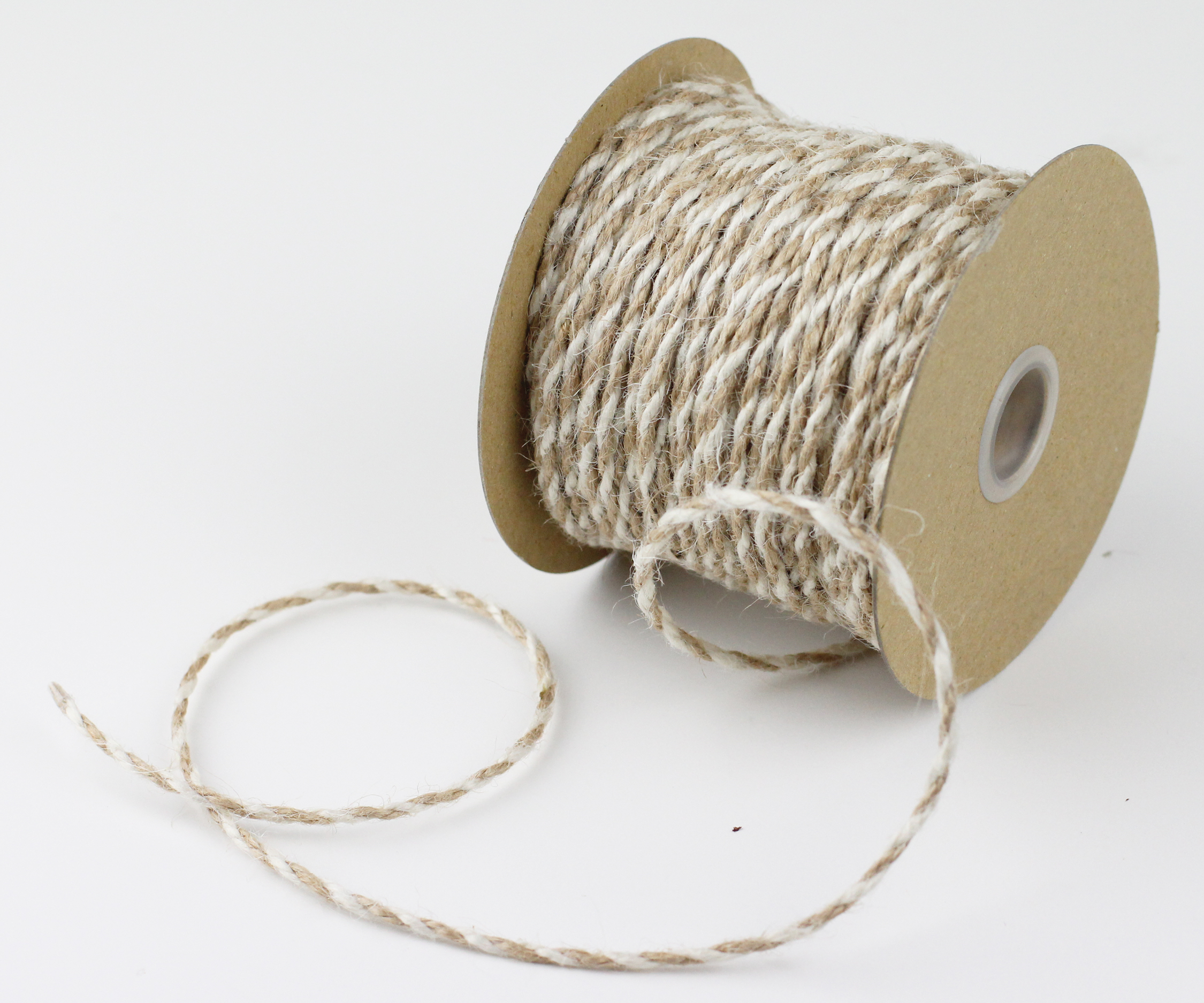 Ivory/Natural Jute Twine - 2.5mm x 50 Yards