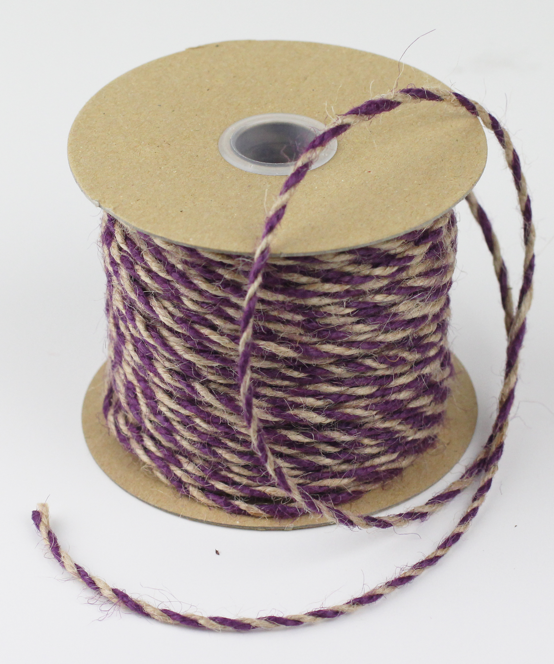 Purple/Natural Jute Twine - 2.5mm x 50 Yards