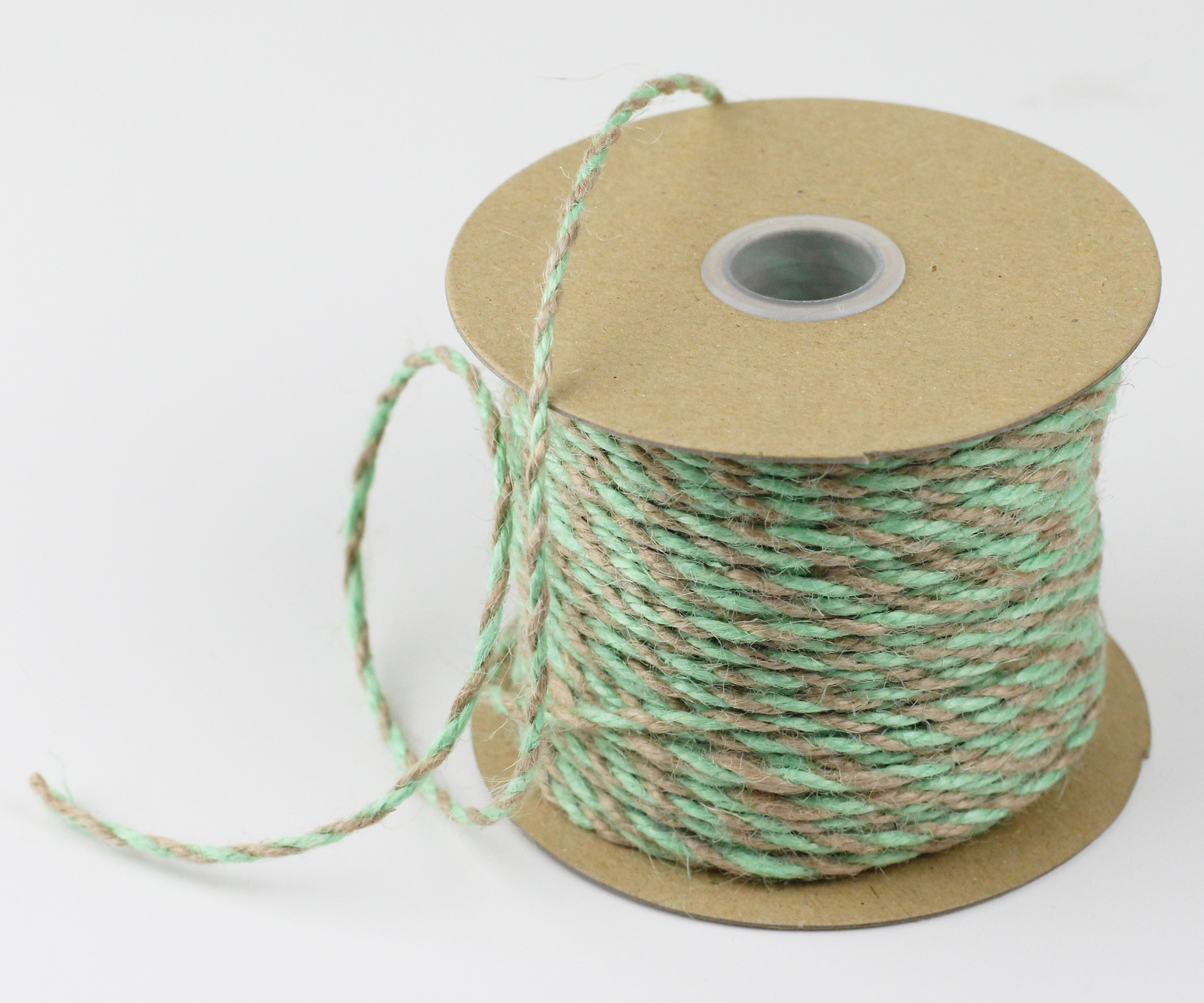 Mint/Natural Jute Twine - 2.5mm x 50 Yards