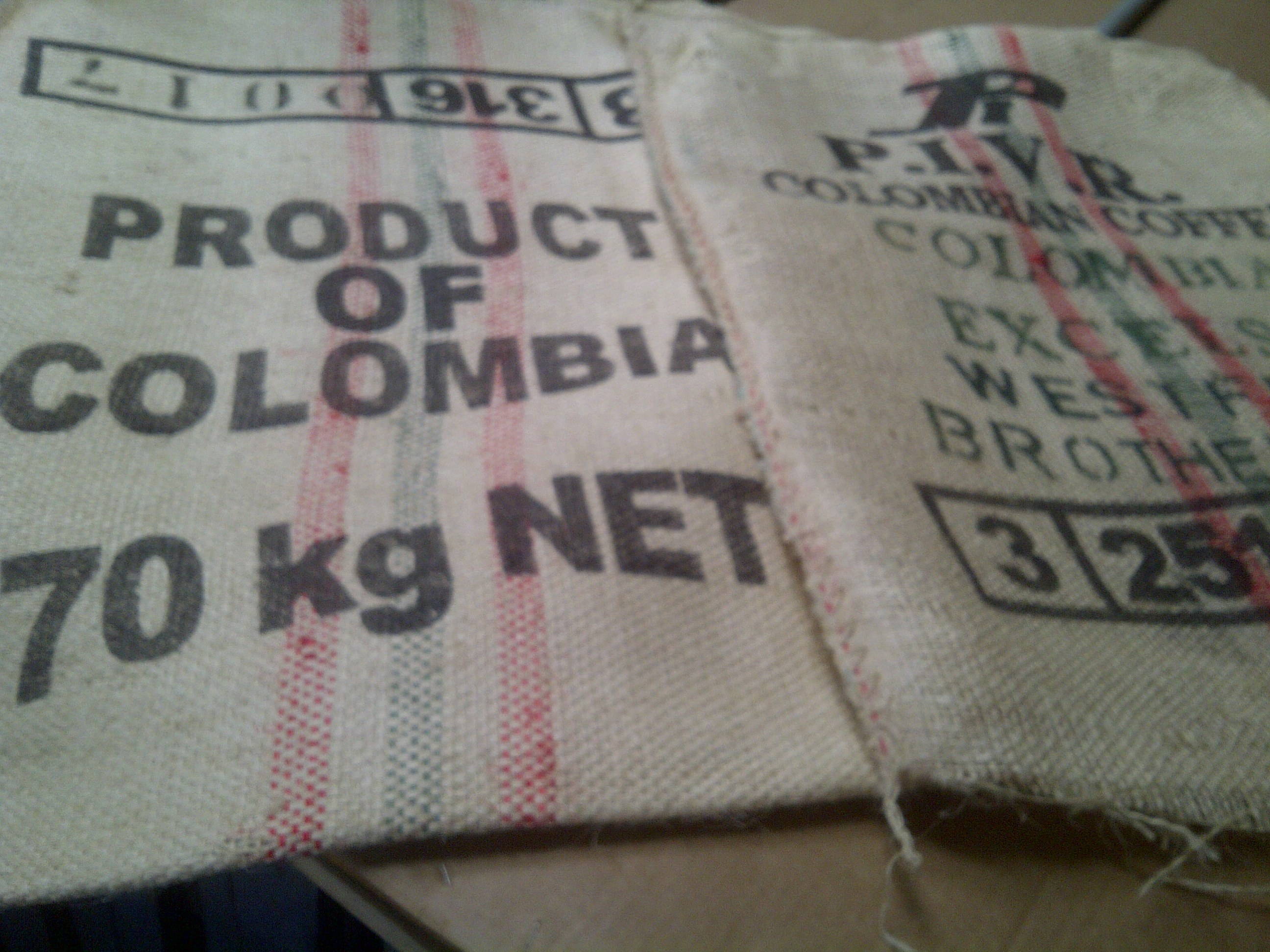 "28"" x 36"" SISAL COFFEE BAGS- USED"