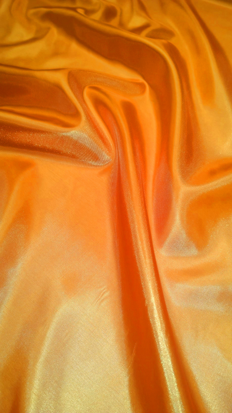 "By The Yard- 60"" Orange Habotai Fabric"