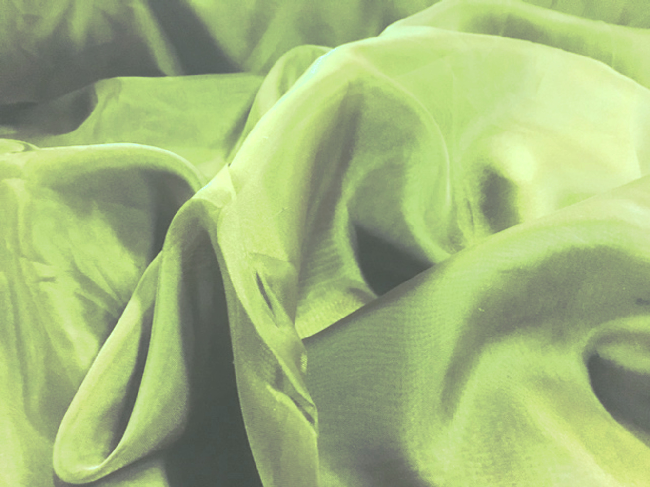 "Voile Fabric 118"" Wide in Apple Green - By the Yard"