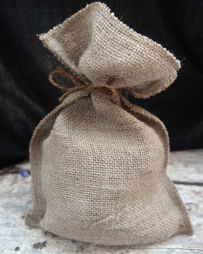 "Natural Burlap Pouch Bag - 7.25"" x 10"" (12 Pack)"