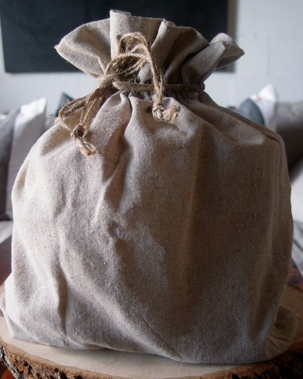 "Linen Bag w/ Jute Drawstring - 10"" x 12"" (12 Pack)"