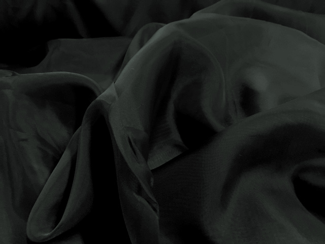 "Voile Fabric 118"" Wide in Black - By the Yard"