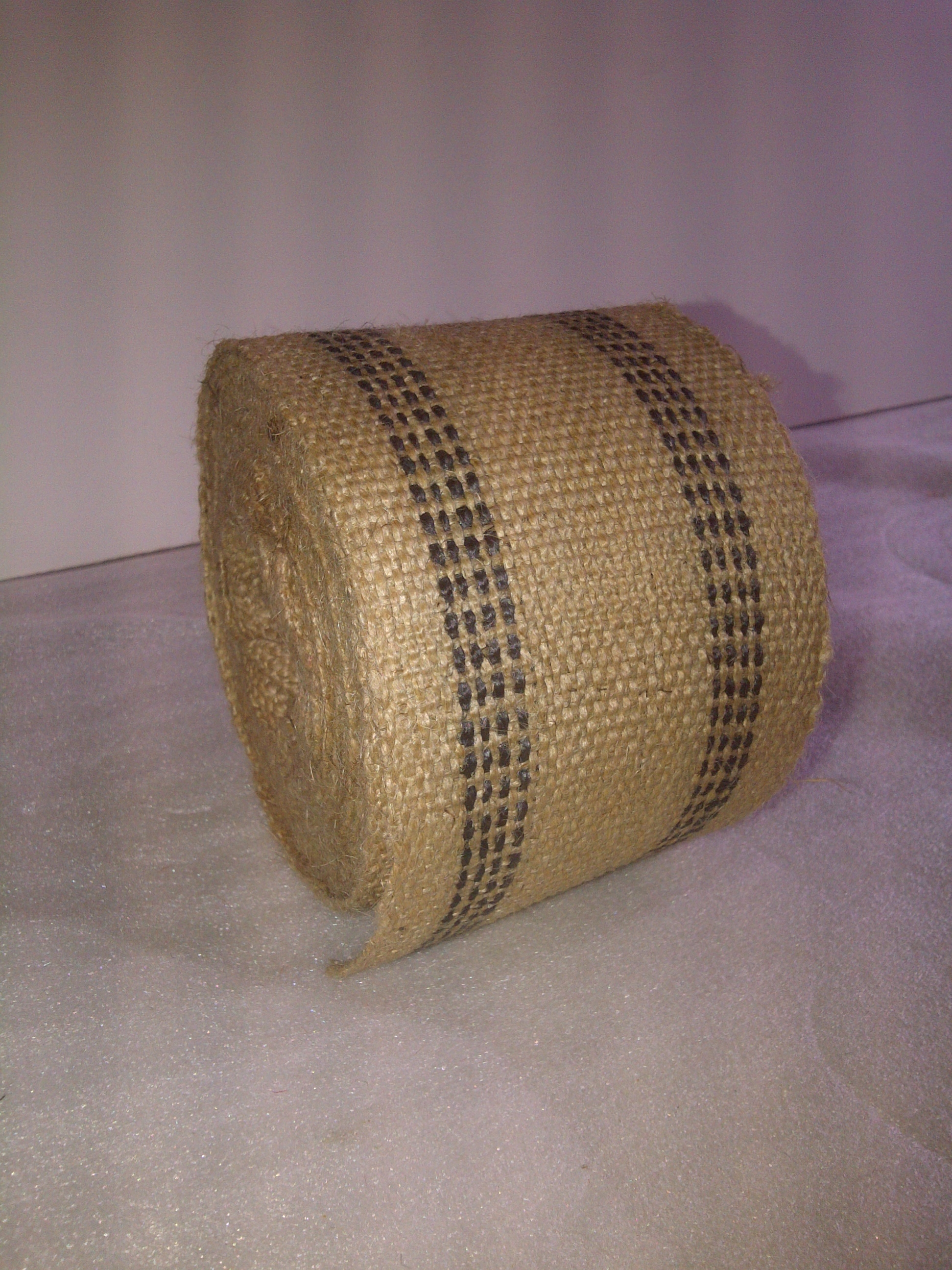 Black Jute Webbing by the Yard