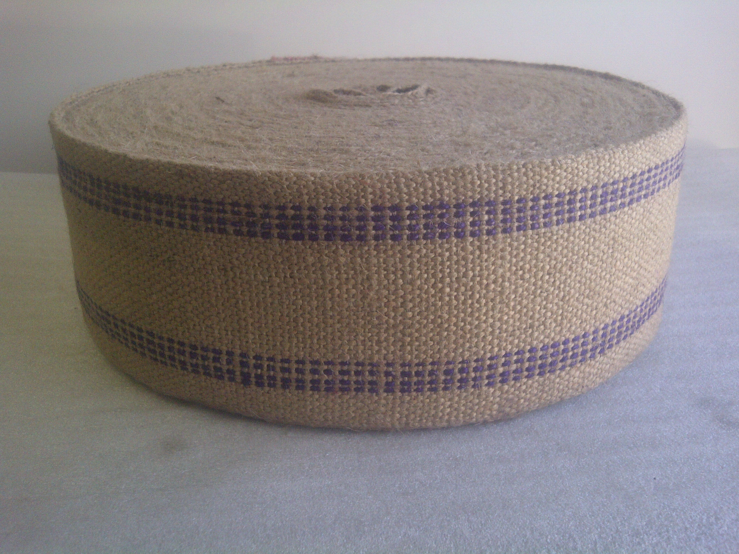 Blue/Purple Jute Webbing by the Yard - Click Image to Close