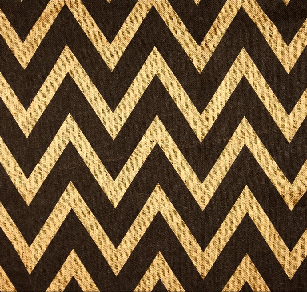 "Brown/Natural 60"" Chevron Burlap 20 Yds"