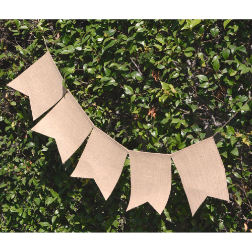 "8"" x 10"" Rectangle Burlap Banner (x 5)"