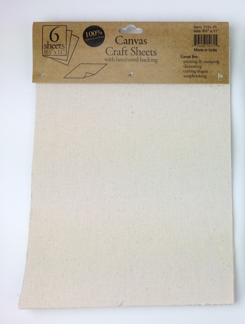 "8.5"" x 11"" Canvas Laminated Sheets (1/2 dozen)"