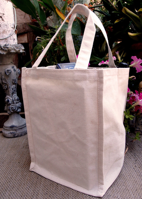 "8""x8""x11"" Canvas Tote Bag -Natural"