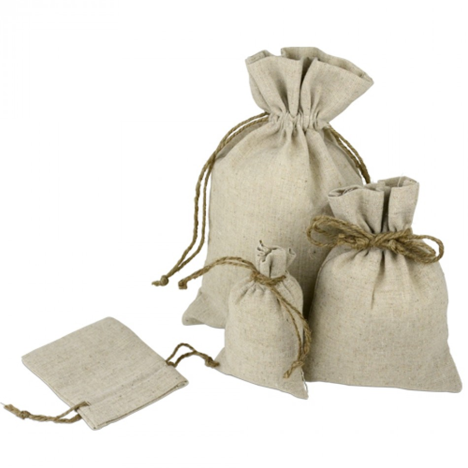 Linen Bags With Jute Drawstring