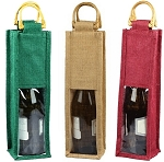 Wine Bags with Clear Window