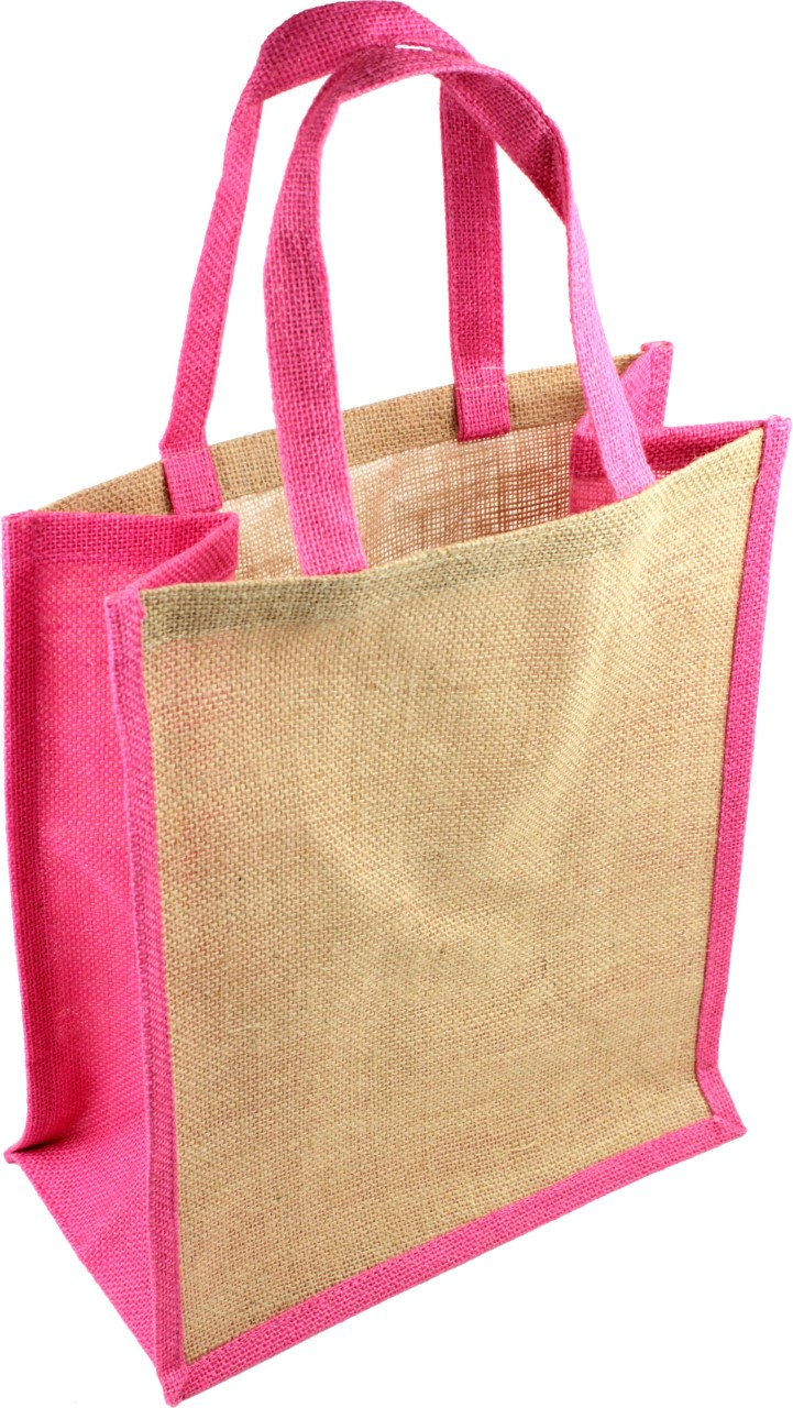 Jute Tote Bags w/Accents (Color)