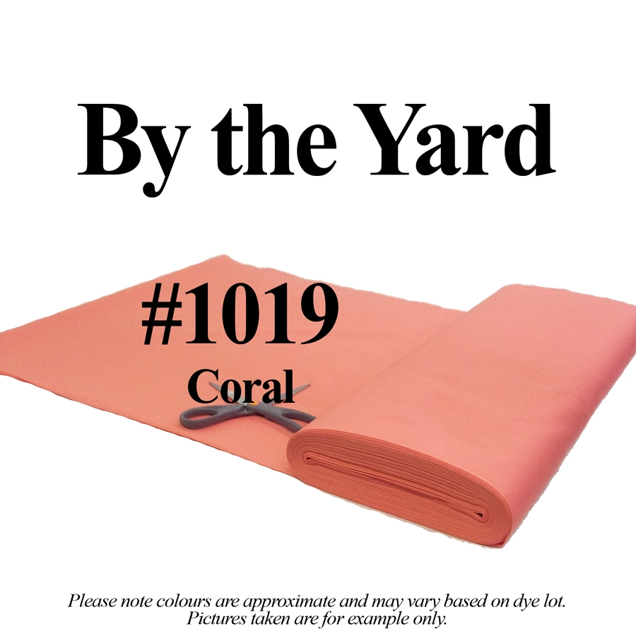 "45"" Coral Broadcloth - By the Yard"