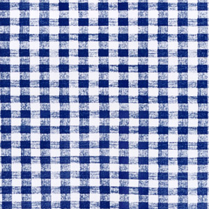 "Royal Blue Gingham OilCloth Roll (Flannel Backing) -54""x 25 Yard"