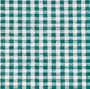 "Green Gingham OilCloth Roll (Flannel Backing) - 54"" x 25 Yard"
