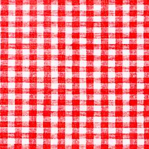 "Red Gingham OilCloth Roll (Flannel Backing) -54"" x 25 Yard"