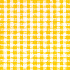 "Yellow Gingham OilCloth Roll (Flannel Backing) - 55"" x 25 Yard"