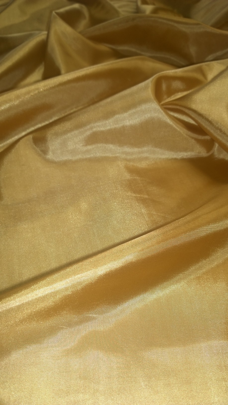 "By The Yard - 60"" Brushed Gold Habotai Fabric"