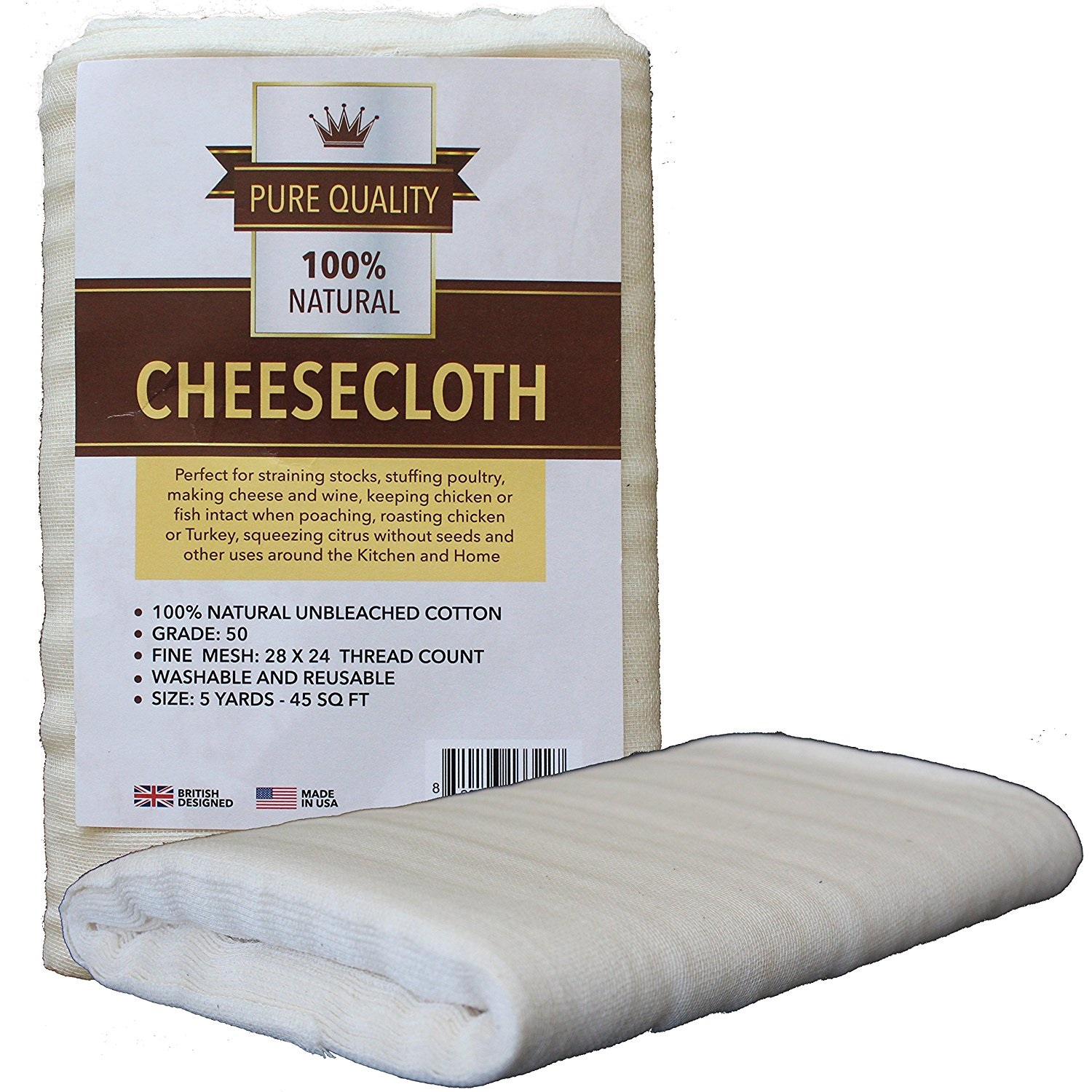 Grade 50 Cheesecloth 45 Sq Feet