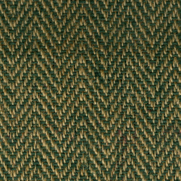 "Green/Natural Herringbone Burlap Roll (14oz) - 48"" x 25 Yard"