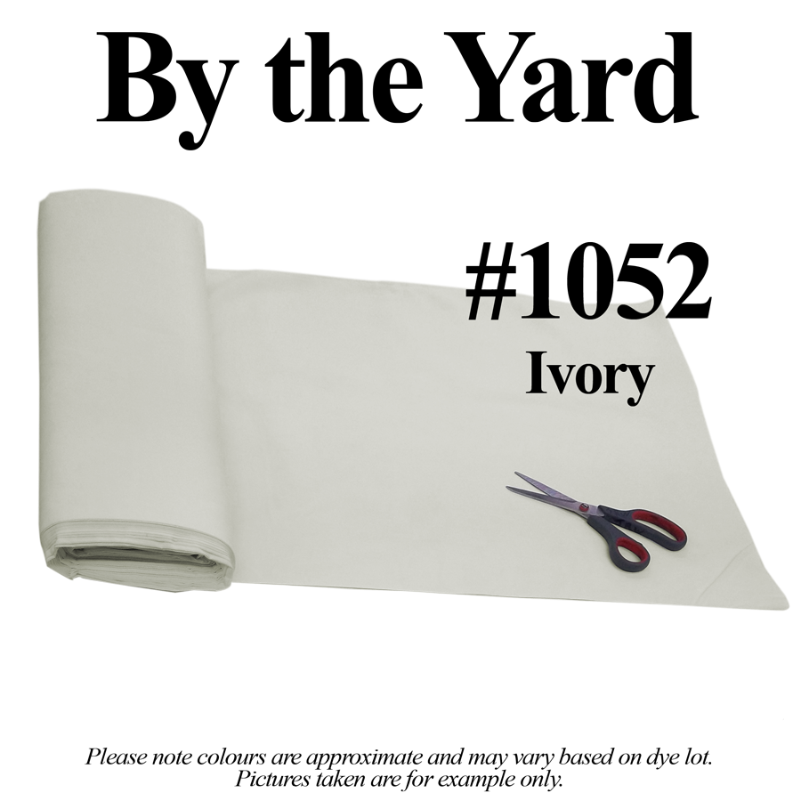 "45"" Ivory Broadcloth- By the Yard"