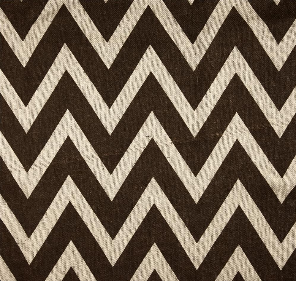 "Brown/Ivory 60"" Chevron Burlap 20 Yds"