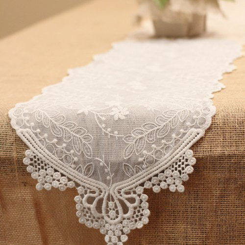 "Ivory Lace Table Runner - 14"" x 108"""