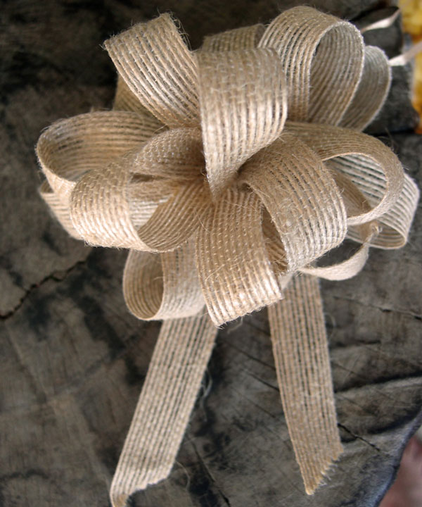 "Pull-to-tie Bow 5/8"" X 18 LOOPS (JUTE) - Pack of 12"
