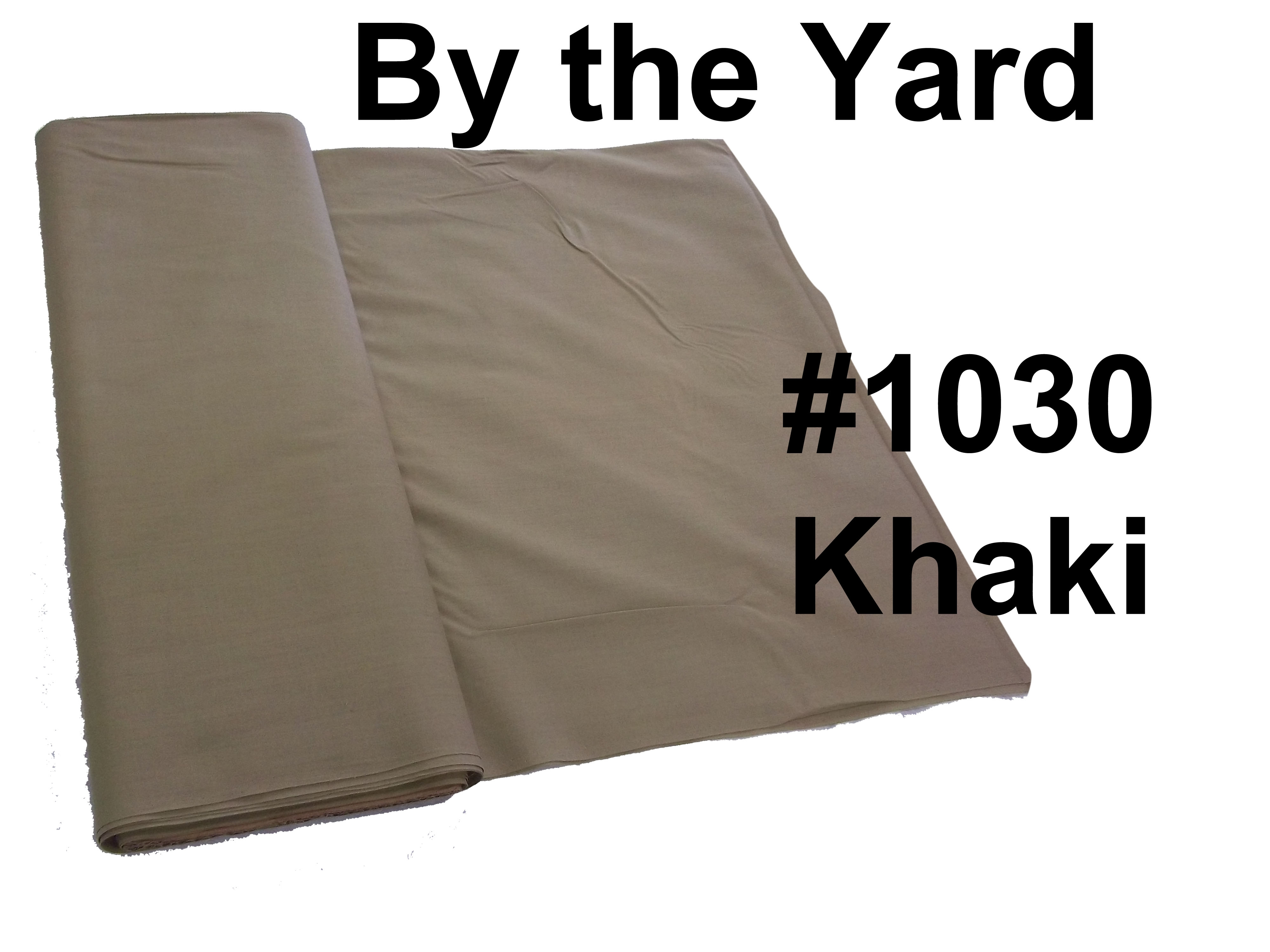 "45"" Khaki Broadcloth - By the Yard"