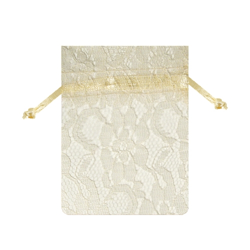 "Ivory Lace Bags - 3"" x 4"" (Sold by the dozen)"
