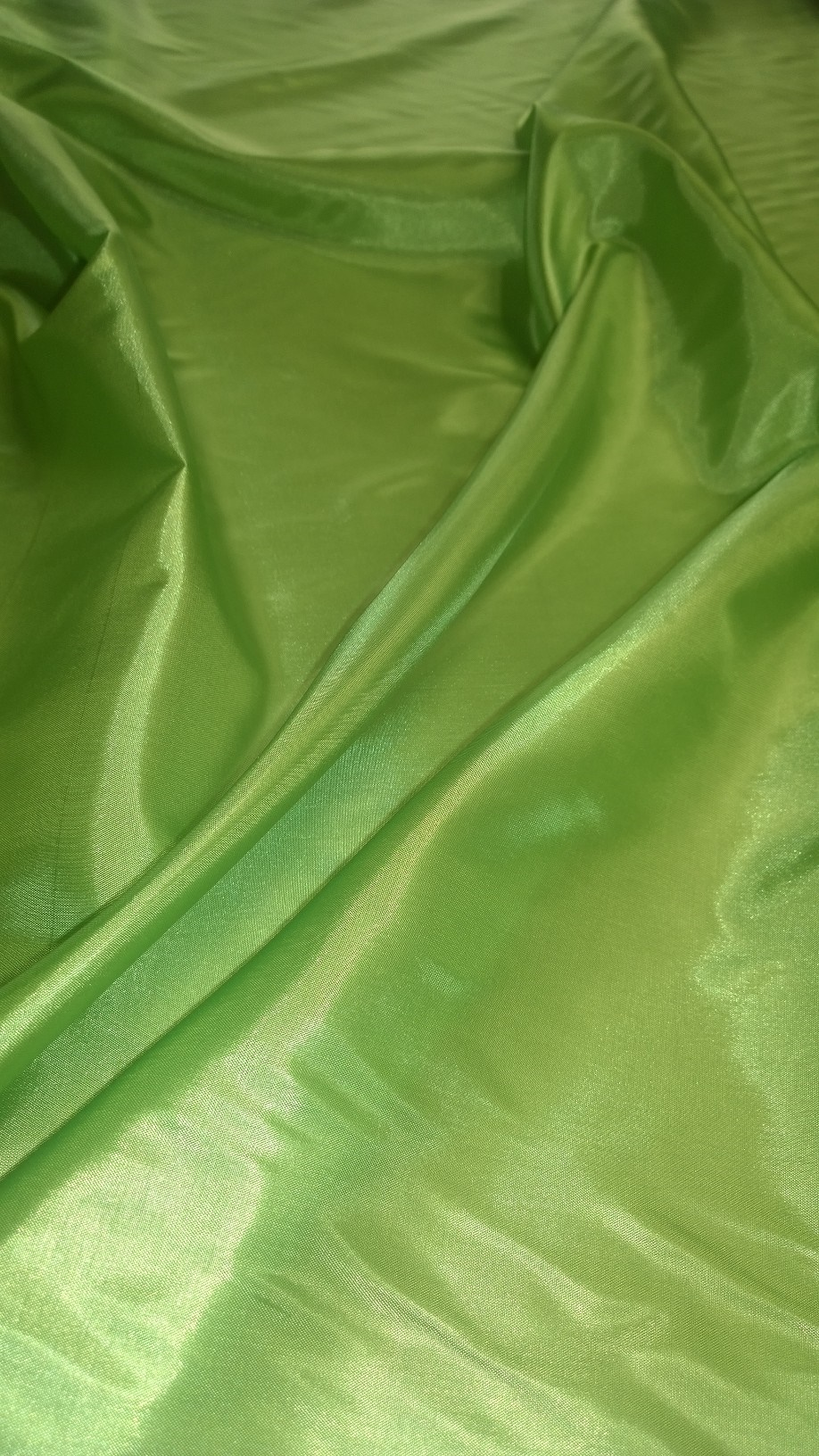 "By The Yard -60"" Leaf Green Habotai Fabric"