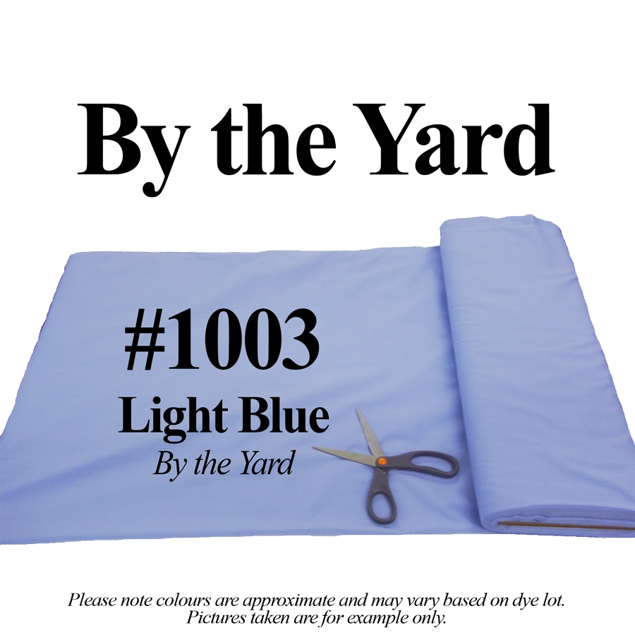 "45"" Blue Broadcloth - By the Yard"